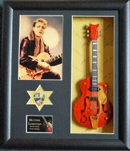 Eddie Cochran Framed Guitar & Plectrum Presentation