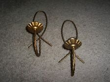 Gold Twisted Braided sconces Vintage Home Interiors