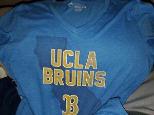 Ladies UCLA BRUINS V Neck Short Sleeve soft T Shirt LARGE
