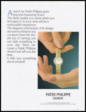 Patek Philippe Geneve print ad 1990 watch in woman's hands