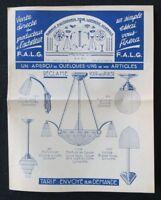 Catalogue 1932 FALG luminaire lustrerie Leuchte art déco catalog Katalog