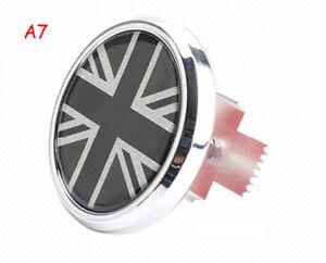 3D Metal Car Front Grille Emblem Badge Decal UK Mini Cooper Black Union Jack