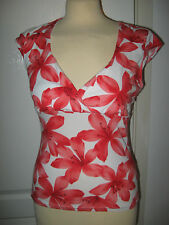 New Look Cap Sleeve Fitted Floral Tops & Shirts for Women