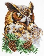 Counted Cross Stitch Kit WONDERFUL NEEDLE - OWL