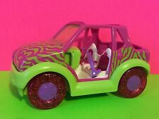 Polly Pocket Pink Lime Green Zebra Striped Jeep Toy Gift