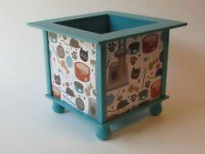 Cat Print Planter Box - Paint Stick Planter Box - I Love My Cat Decor Planter