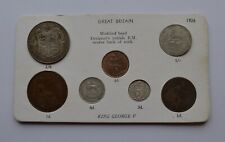 More details for 1926 george v set with modified half crown 7 coin collection
