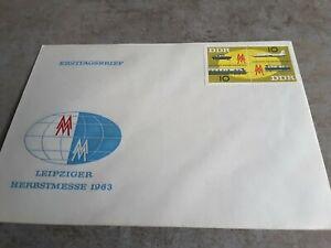 Ersttagsbrief Herbstmesse Leipzig 1963, ungestempelt!