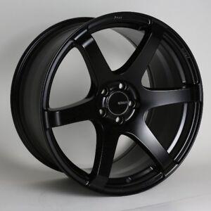 17x8/9 Enkei T6S 5x114.3 +45 Black Rims Fits Honda S2000