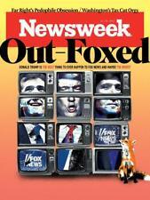 PRESIDENT DONALD TRUMP OUT FOXED FOX NEWS NEWSWEEK NOVEMBER 2017
