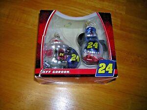 Jeff Gordon #24 NASCAR  Collectible Christmas Ornament Figure Set NIP
