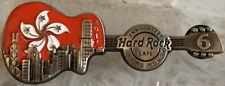 Hard Rock Cafe HONG KONG 2017 6th Anniversary PIN Flag & Cityscape Guitar #93414