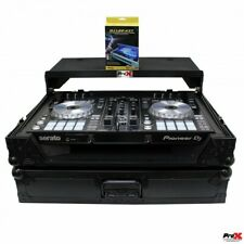 Pro X Flight Case W/Laptop Shelf & LED Kit For Pioneer DDJ-SR2 (Black on Black)