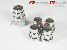 Chrome Locking Wheel Nuts x4 12x1.5 Fits Mazda Mx3 Mx5 Mx6 Rx7 RX8 3 6 5 MPS