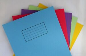 Silvine A4 Exercise Books 80 Pages School Work Pack 5 - Lined Assorted Colours
