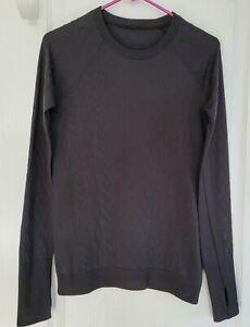 EUC Lululemon Rest Less Pullover LS Top Black 3rd Release Size 8(?)
