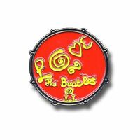 The Beatles Drum Love Logo Red new Official Metal Pin badge Size One Size
