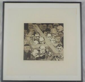 Vintage Original Etching Way of the Cross by Charles Bragg Listed