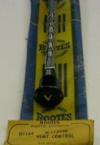 Rootes Group Hillman Minx Husky NOS Ventilator Lever and Black Knob x 2