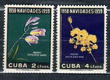 1Cuba 1958 Mi 613-614 Flowers - MNH