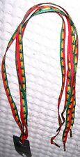 Thin Rasta Red Yellow Green Stripes MJ Weed Marijuana Leaves Punk Shoe Laces-New
