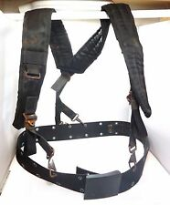 OLD ARMY BLACK TACTICAL H-TYPE LC-1 LOAD BEARING SUSPENDERS AND BELT