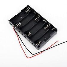 Battery Box Slot Holder Case for 6 Packs AA 2A Batteries Stack 9V - UK seller