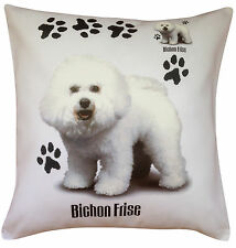 Bichon Frise Paws Breed of Dog Cotton Cushion Cover - Perfect Gift