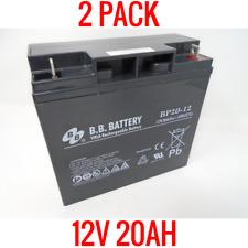 2 PACK! 12V 20AH LEAD ACID BATTERY VRLA RECHARGEABLE B.B. BP20-12 GOLF CART RV
