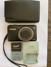 Canon PowerShot SX260 HS 12.1MP Digital Camera Plus 2 Batteries, Charger & Case