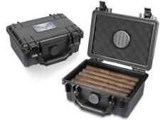 Guardsman Travel Black Cigar Humidor Capacity 10-15 Cigars