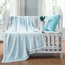 Cot Blanket Ultra Soft Breathable Cool Feeling Throw Sky Blue Grey