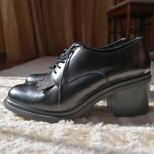 scarpe francesine donna nere Sax Made in Italy