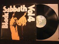 Black Sabbath - Volume 4 - 1972 Vinyl 12'' Lp./ VG+/ Ozzy Hard Rock Metal NWOBHM
