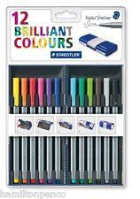 STAEDTLER Triplus Fineliner Penne-MAGIC BOX di 12 colori assortiti penne!