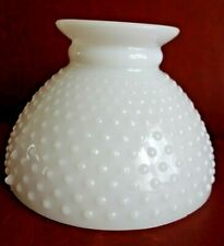 """Vintge Hurricane Table Lamp Light 8"""" Fitter White Milk Glass Shade, 2 available"""