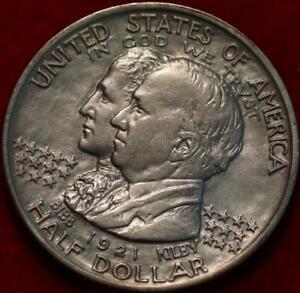 1921 Philadelphia Mint Alabama Silver Comm Half