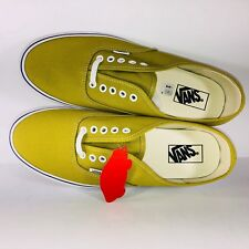 2fa89684858e VANS Authentic Cress Green   True White Skating Sneakers VN0A38EMU61 Size 10
