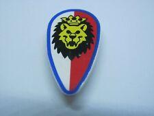 LEGO 2586p4d @@ Shield Lion Head, Blue Border Pattern 6044 6078 6090 9376