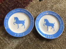 Devon Horse Show And Country Fair Plates 1992 Logn Family Potters Long Potters