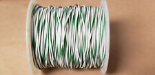 GREEN / WHITE WIRE 22AWG (25FT)