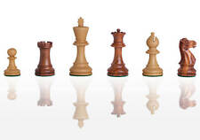 "USCF Sales The Grandmaster Chess Set - Pieces Only - 3.25"" King - Golden Rosewoo"