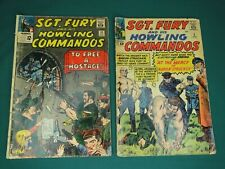 MARVEL COMICS GROUP  - SGT. FURY AND HIS HOWLING COMMANDOS #5 & #21 - SEE PICS!!