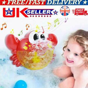 Crab Bubble Machine Musical Bubble Maker Baby Children Bath Shower Toy UK