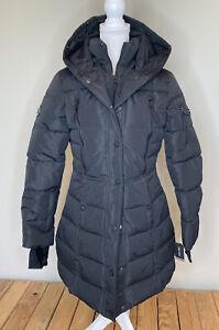 Nautica NWT Women's Hooded Full zip Puffer Coat Size S Black