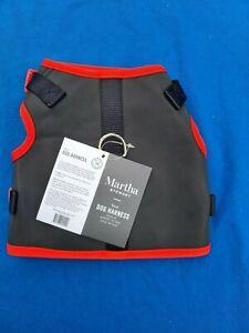 Martha Stewart Vest Dog Harness, Blk/Red, Size 18 - new