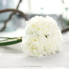 Artificial Bouquet Peony 5 Heads Silk Flower Fake Leaf Home Wedding Party Decor