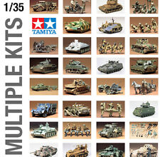 TAMIYA 1/35th MILITARY ARMY WORLD WAR II PLASTIC MODEL KITS MEDIUM SIZE