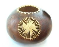 From the Vine Designs Hand Crafted Gourd Bowl Signed By Artist 2000