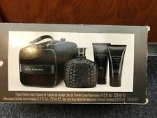 john varvatos artisan black 4pc Gift Set 4.2oz+2.5 A/S+2.5 S/G+bag Discontinued
